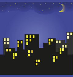 building at night vector image