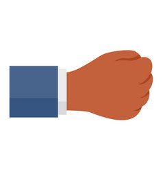 business fist icon flat style vector image