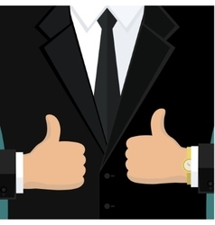 Business man in black vector image