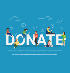Charity donation funding concept vector