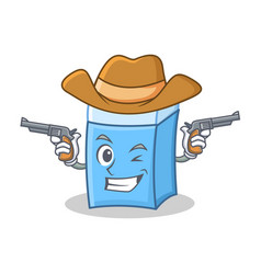 cowboy eraser character mascot style vector image