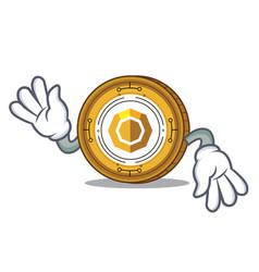 Crazy komodo coin mascot cartoon vector