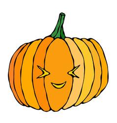 cute halloween pumpkins autumn or fall party vector image