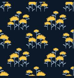 dandelion flowers seamless pattern vector image