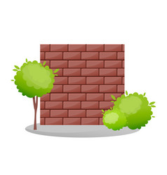 Decorative stone fences exterior appearance vector