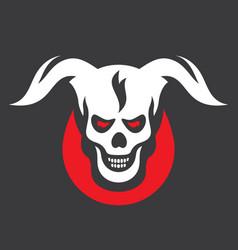Devil halloween sign vector