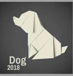 Dogs are abstract origami vector