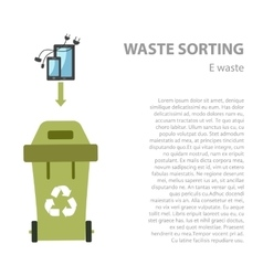 E-waste sorting flat concept vector