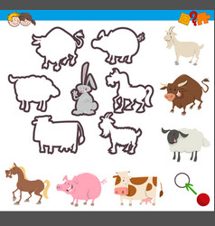 Educational game shapes vector