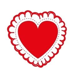 embellished heart cartoon icon image vector image