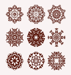 Ethnic mandalas decorative elements vector