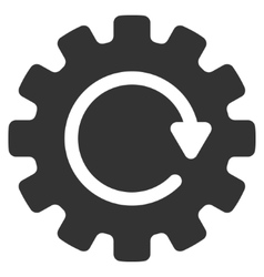 Gearwheel Rotation Flat Icon vector