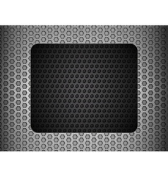 grunge metallic mesh background with black panel vector image