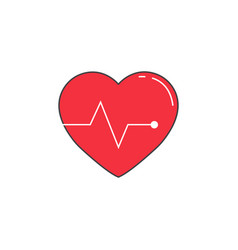 heartbeat solid icon cardio graphics vector image