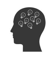 human head profile vector image