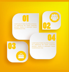 infographic web business concept vector image