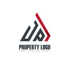 Initial letter jp property design logo vector