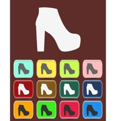 isolated jackboot with color variations vector image