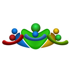 isolated teamwork logo vector image