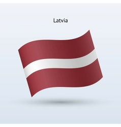 Latvia flag waving form vector image