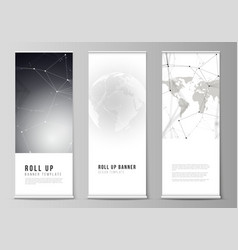 Layout of roll up banner stands vertical vector