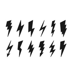 lightning icon set - cartoon design vector image