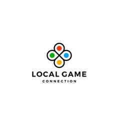 local game connection logo design concept vector image