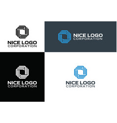 Logo technology and telecommunication vector