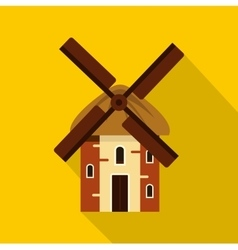 Mill icon flat style vector