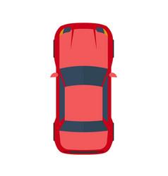 Modern flat red car vector