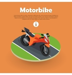 Motorbike on Part of Road Motorcycle Bike Cycle vector