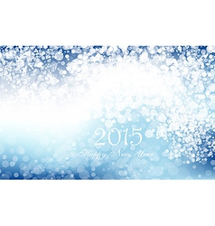 New year 2015 in blue background Clip-art vector image