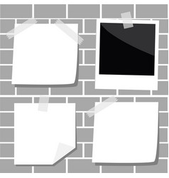note paper with corner and shadow empty photo vector image