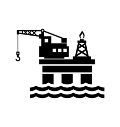 Oil Platform for Logo and Icon vector