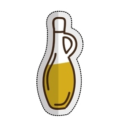 olive oil bottle isolated icon vector image