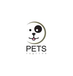 pets circle logo vector image