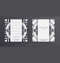 Preparing a light-colored postcard with abstract vector