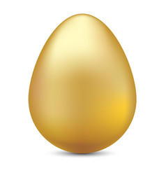 realistic golden egg on white for ester festival vector image