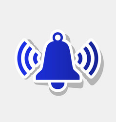 ringing bell icon new year bluish icon vector image