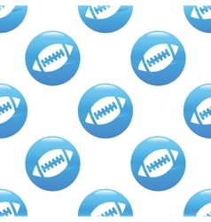 Rugby ball sign pattern vector image