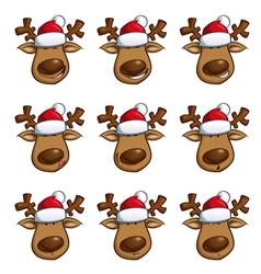 Santas elks expressions vector
