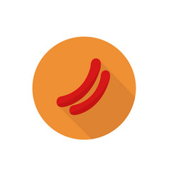 Sausage icon in on white background vector