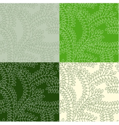 Seamless pattern made of leaves vector image
