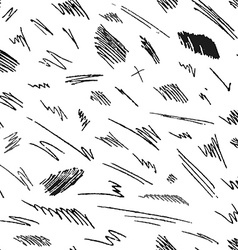 Seamless pattern of hand-drawn pencil strokes and vector