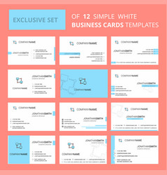 set of 12 computer networks creative busienss vector image