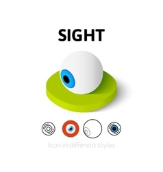 Sight icon in different style vector