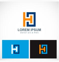 square letter h company logo vector image