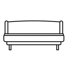 strong sofa icon outline style vector image