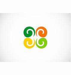 swirl colored logo vector image