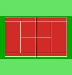 tennis court in flat design top view vector image
